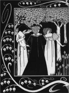 How Sir Launcelot was Known by Dame Elaine I - Aubrey Beardsley