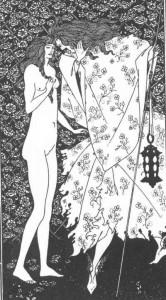 The Mysterious Rose Garden - Aubrey Beardsley (1895)